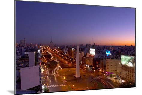 Argentina, Buenos Aires, Avenida 9 De Julio, Plaza of De La Republica, Obelisk-Chris Seba-Mounted Photographic Print
