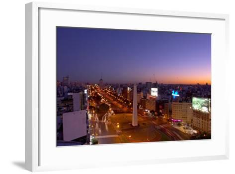 Argentina, Buenos Aires, Avenida 9 De Julio, Plaza of De La Republica, Obelisk-Chris Seba-Framed Art Print