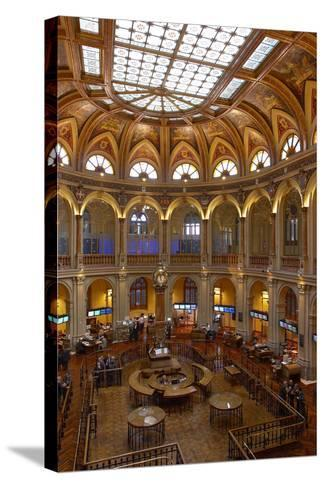 Spain, Madrid, Stock Exchange, Indoors, Rights Clarifies-Chris Seba-Stretched Canvas Print