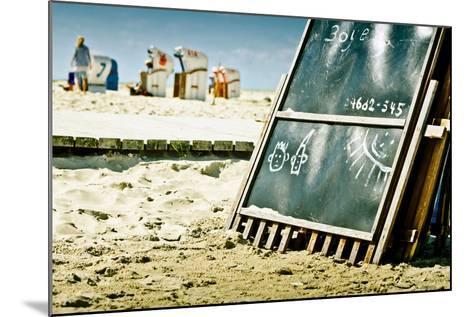 Germany, Schleswig-Holstein, Amrum, Norddorf, Beach-Ingo Boelter-Mounted Photographic Print