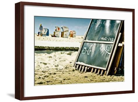 Germany, Schleswig-Holstein, Amrum, Norddorf, Beach-Ingo Boelter-Framed Art Print