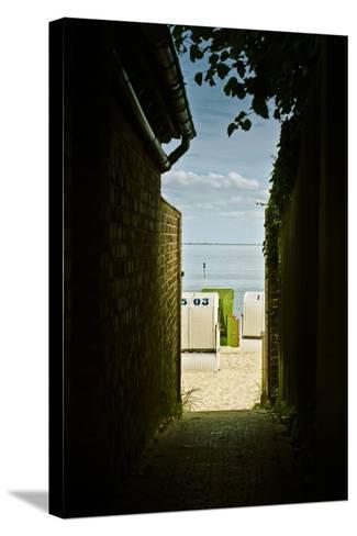 Germany, Schleswig-Holstein, Wyk, Sandy Beach, Bathing Beach-Ingo Boelter-Stretched Canvas Print