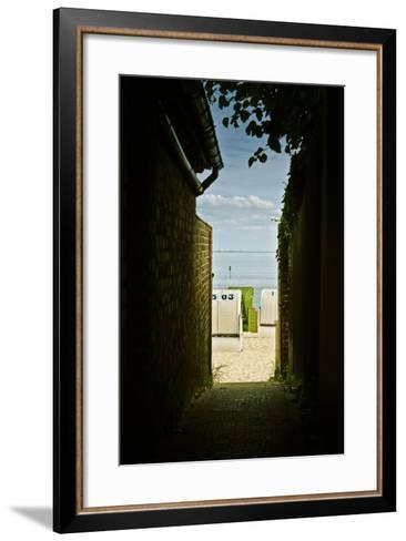 Germany, Schleswig-Holstein, Wyk, Sandy Beach, Bathing Beach-Ingo Boelter-Framed Art Print