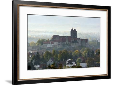 Castle Hill with Collegiate Church St. Servatius in the Morning Haze, UNESCO World Heritage-Andreas Vitting-Framed Art Print