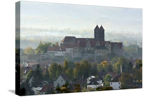 Castle Hill with Collegiate Church St. Servatius in the Morning Haze, UNESCO World Heritage-Andreas Vitting-Stretched Canvas Print