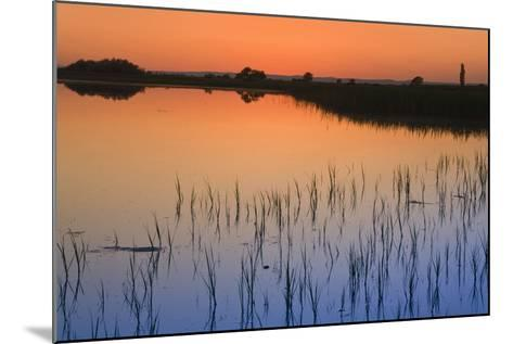 Austria, Burgenland, Ferto National Park, Lake Neusiedl, Scenic View of Lake at Sunset-Rainer Mirau-Mounted Photographic Print