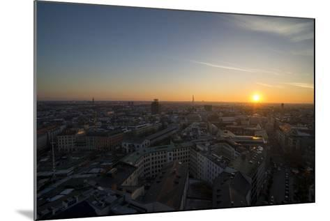 Sunset Above Munich, Germany-Benjamin Engler-Mounted Photographic Print