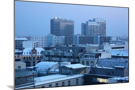 Germany, Berlin Mitte, Dusk, Snowy Roofs-Catharina Lux-Mounted Photographic Print