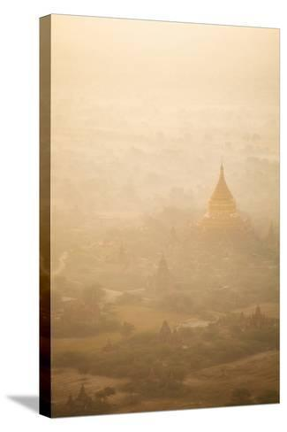 Aerial View of Ancient Temples (More Than 2200 Temples) of Bagan at Sunrise in Myanmar-Harry Marx-Stretched Canvas Print