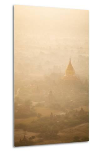 Aerial View of Ancient Temples (More Than 2200 Temples) of Bagan at Sunrise in Myanmar-Harry Marx-Metal Print