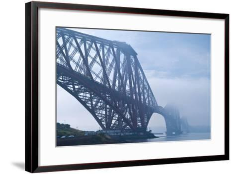 Scotland, Edinburgh, Forth Bridge, Fog-Thomas Ebelt-Framed Art Print
