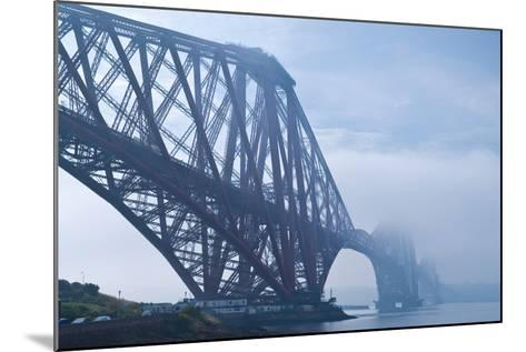 Scotland, Edinburgh, Forth Bridge, Fog-Thomas Ebelt-Mounted Photographic Print