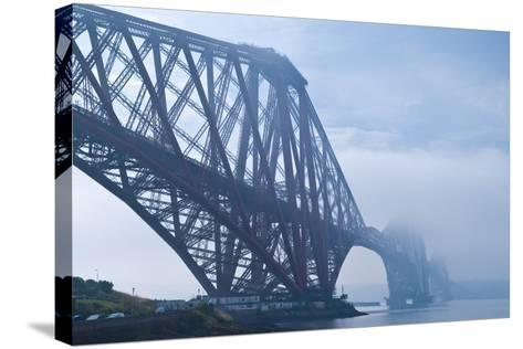 Scotland, Edinburgh, Forth Bridge, Fog-Thomas Ebelt-Stretched Canvas Print