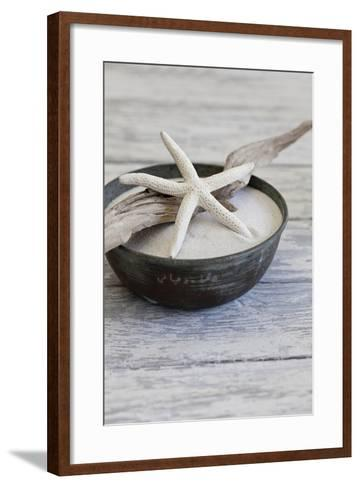 Still Life, Bowl, Sand, Driftwood, Starfish-Andrea Haase-Framed Art Print