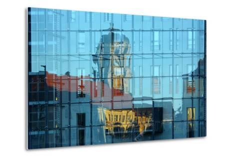 Berlin, Nikolaiviertel, Molkenmarkt, Town House, Reflection-Catharina Lux-Metal Print