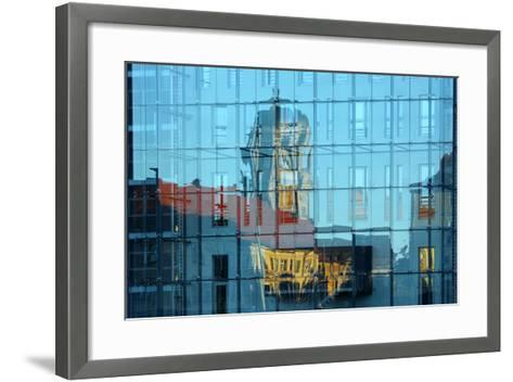 Berlin, Nikolaiviertel, Molkenmarkt, Town House, Reflection-Catharina Lux-Framed Art Print