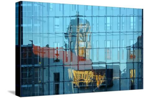Berlin, Nikolaiviertel, Molkenmarkt, Town House, Reflection-Catharina Lux-Stretched Canvas Print