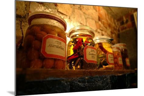 Cellars, Shelf, In-Mach-Glasses, Food, Motorcycle-Model- Fact-Mounted Photographic Print