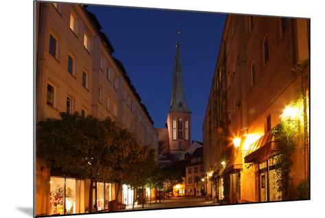 Berlin, Nikolaiviertel, Night Photography-Catharina Lux-Mounted Photographic Print
