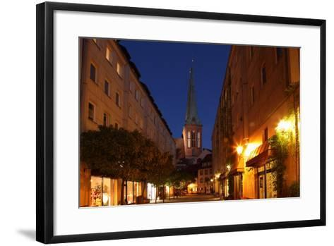 Berlin, Nikolaiviertel, Night Photography-Catharina Lux-Framed Art Print