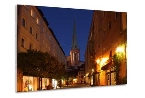 Berlin, Nikolaiviertel, Night Photography-Catharina Lux-Metal Print