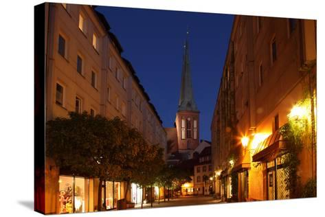 Berlin, Nikolaiviertel, Night Photography-Catharina Lux-Stretched Canvas Print