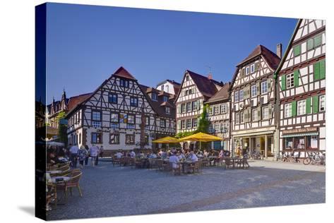 Germany, Baden-WŸrttemberg, Kraichgau (Region), Bretten (Village), Marketplace-Udo Siebig-Stretched Canvas Print