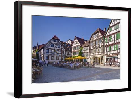 Germany, Baden-WŸrttemberg, Kraichgau (Region), Bretten (Village), Marketplace-Udo Siebig-Framed Art Print