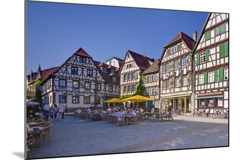 Germany, Baden-WŸrttemberg, Kraichgau (Region), Bretten (Village), Marketplace-Udo Siebig-Mounted Photographic Print