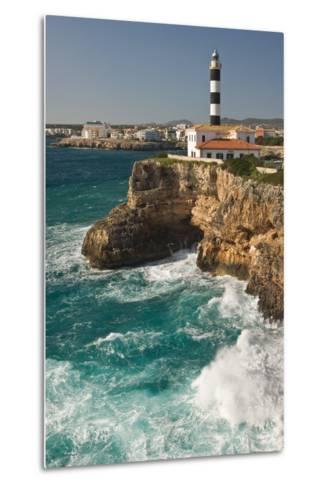 Spain, Majorca, Portocolom, Townscape, Lighthouse-Thomas Ebelt-Metal Print