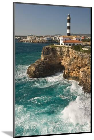 Spain, Majorca, Portocolom, Townscape, Lighthouse-Thomas Ebelt-Mounted Photographic Print