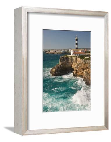 Spain, Majorca, Portocolom, Townscape, Lighthouse-Thomas Ebelt-Framed Art Print