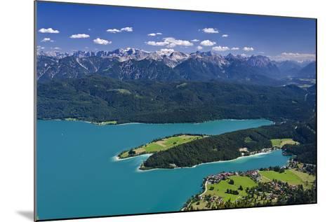 Germany, Bavaria, Upper Bavaria, Walchensee (Lake), Panoramic Views, Herzogstand (Mountain)-Udo Siebig-Mounted Photographic Print