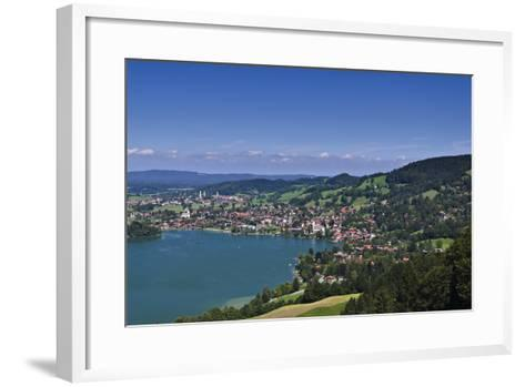 Germany, Bavaria, Upper Bavaria, Mangfall (Mountain Range), Schliersee (Village)-Udo Siebig-Framed Art Print