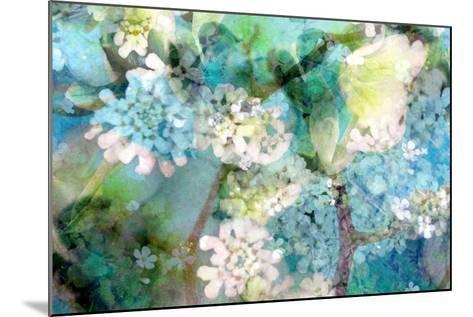 Poetic Photographic Layer Work from White and Blue Flowers with Textures-Alaya Gadeh-Mounted Photographic Print