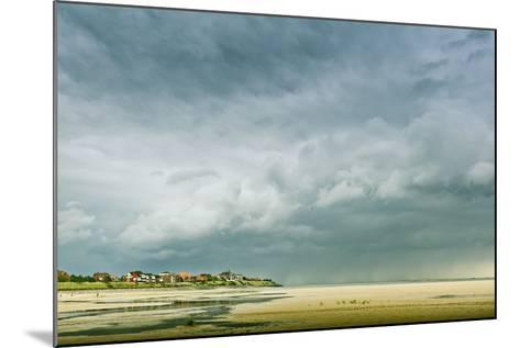 Germany, Schleswig-Holstein, Amrum, Sandy Beach, Sandbank, Kniepsand, Cloud Mood-Ingo Boelter-Mounted Photographic Print