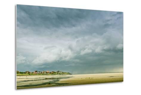 Germany, Schleswig-Holstein, Amrum, Sandy Beach, Sandbank, Kniepsand, Cloud Mood-Ingo Boelter-Metal Print