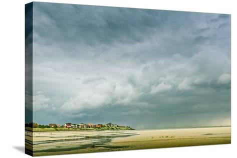 Germany, Schleswig-Holstein, Amrum, Sandy Beach, Sandbank, Kniepsand, Cloud Mood-Ingo Boelter-Stretched Canvas Print