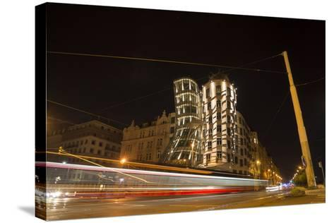 Dancing House, Prague, Czechia, Long Time Exposure-Benjamin Engler-Stretched Canvas Print