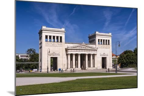 Germany, Bavaria, Upper Bavaria, Munich, Maxvorstadt District, King Square, Propylaea-Udo Siebig-Mounted Photographic Print
