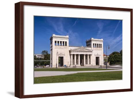 Germany, Bavaria, Upper Bavaria, Munich, Maxvorstadt District, King Square, Propylaea-Udo Siebig-Framed Art Print