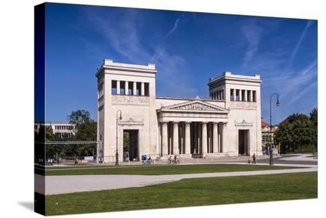 Germany, Bavaria, Upper Bavaria, Munich, Maxvorstadt District, King Square, Propylaea-Udo Siebig-Stretched Canvas Print