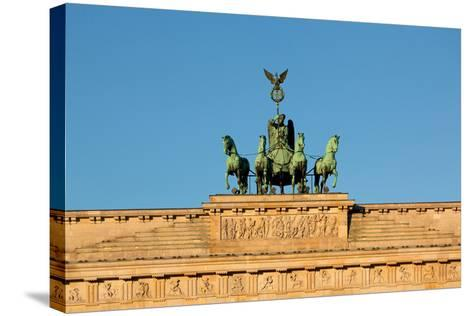 Berlin, the Brandenburg Gate, Quadriga-Catharina Lux-Stretched Canvas Print