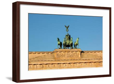 Berlin, the Brandenburg Gate, Quadriga-Catharina Lux-Framed Art Print