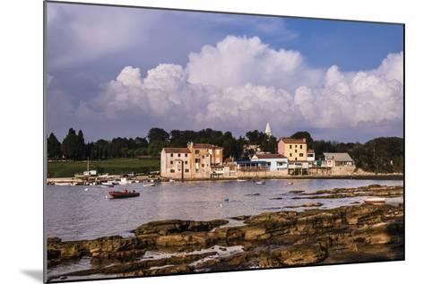 Croatia, Istria, Adriatic Coast, Umag, Village Savudrija, View of the Town in the Evening Light-Udo Siebig-Mounted Photographic Print