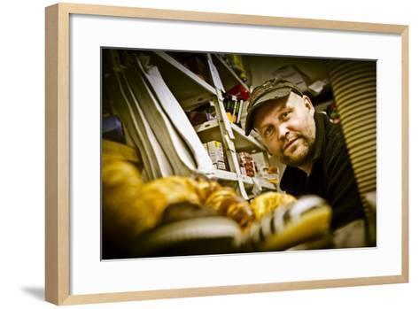 Germany, Hamburg, Reiherdamm, Odos Kaffeeklappe-Ingo Boelter-Framed Art Print