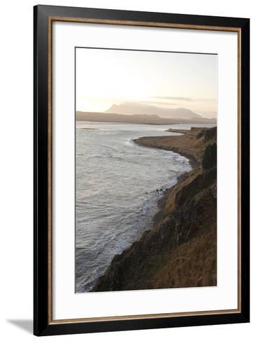 Hvitserkur Area, Hunafjšrdur, Hunafloi Bay, Vatnsnes Peninsula, North Iceland-Julia Wellner-Framed Art Print