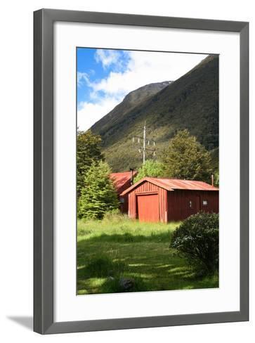 New Zealand, South Island, Arthur's Pass National Park, Barn-Catharina Lux-Framed Art Print