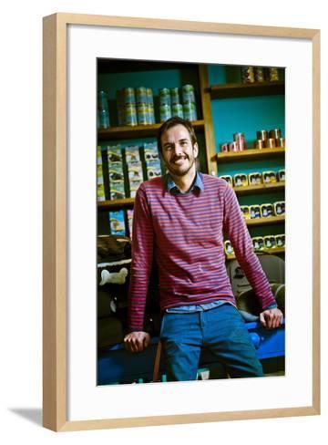 Germany, Hamburg, St Georg, Lange Reihe, Retail Shop, Pet Shop, Pet-Shop-Boyz, Owner-Ingo Boelter-Framed Art Print