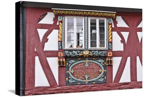 Germany, Hessen, Taunus, German Timber-Frame Road, Bad Camberg, Old Town, Timber-Framed Facade-Udo Siebig-Stretched Canvas Print
